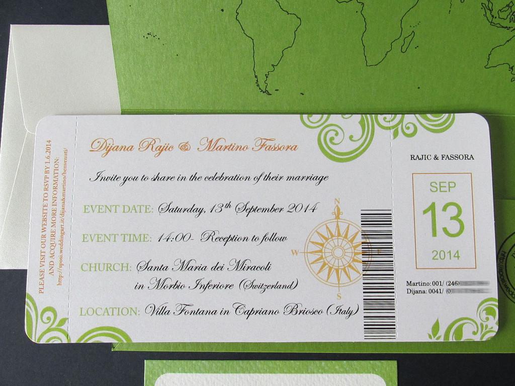Biglietto Partecipazioni Matrimonio.Biglietto Aereo Partecipazioni Di Nozze