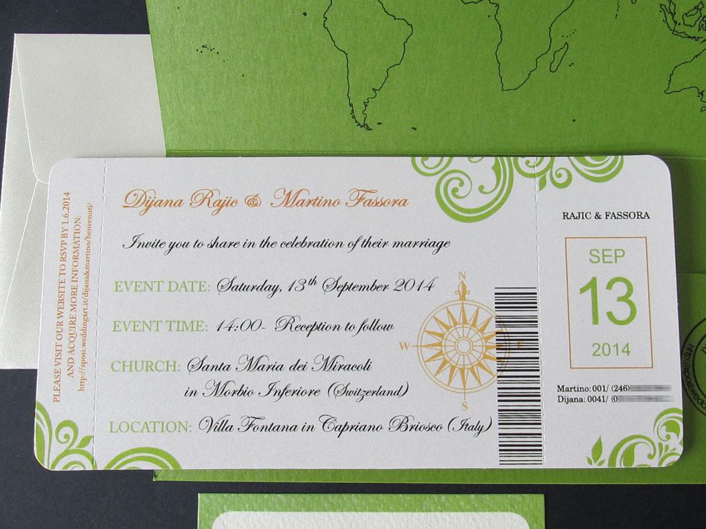 Partecipazioni Matrimonio Inglese.4 Biglietto Aereo L Inglese Partecipazioni Di Nozze