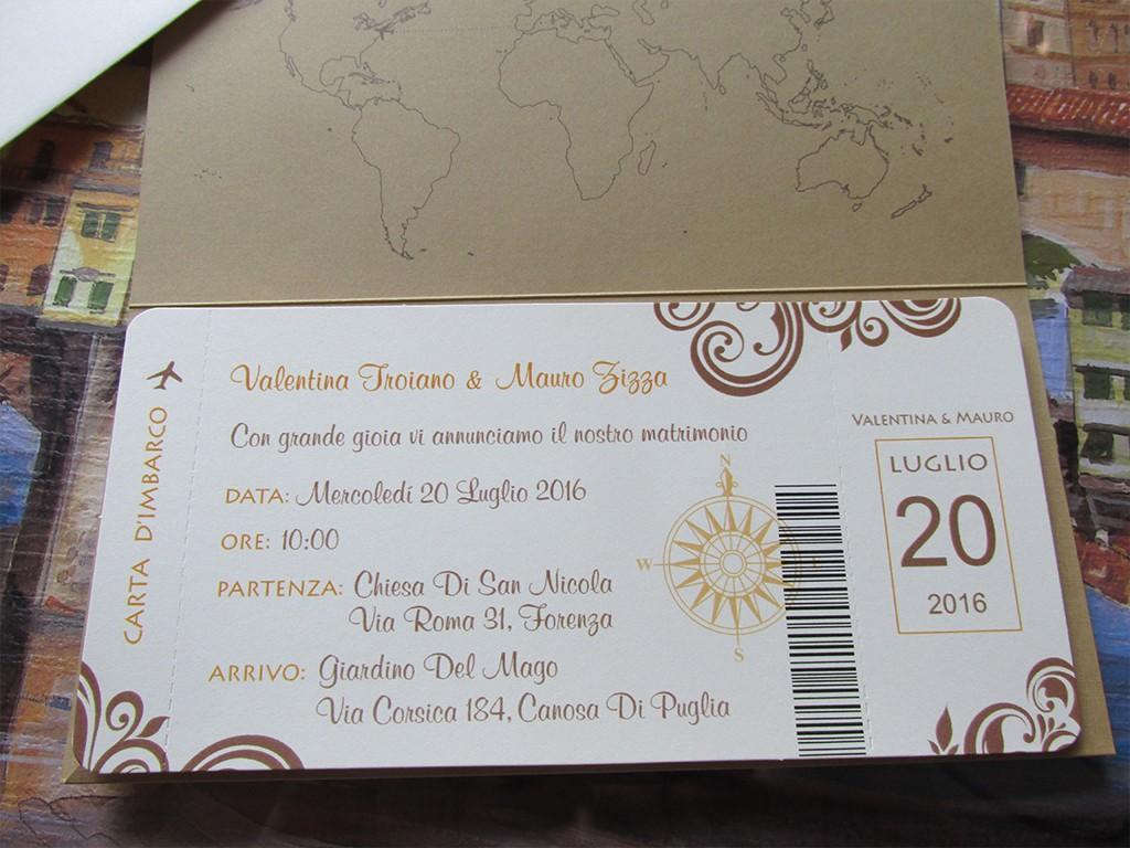 Partecipazioni Matrimonio Biglietto Aereo.Biglietto Aereo Partecipazioni Di Nozze